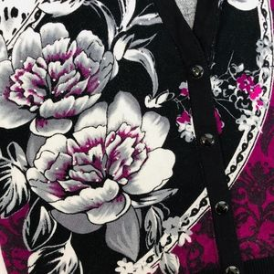 White House Black Market Sweaters - White House Black Market Floral Cardigan | Size M
